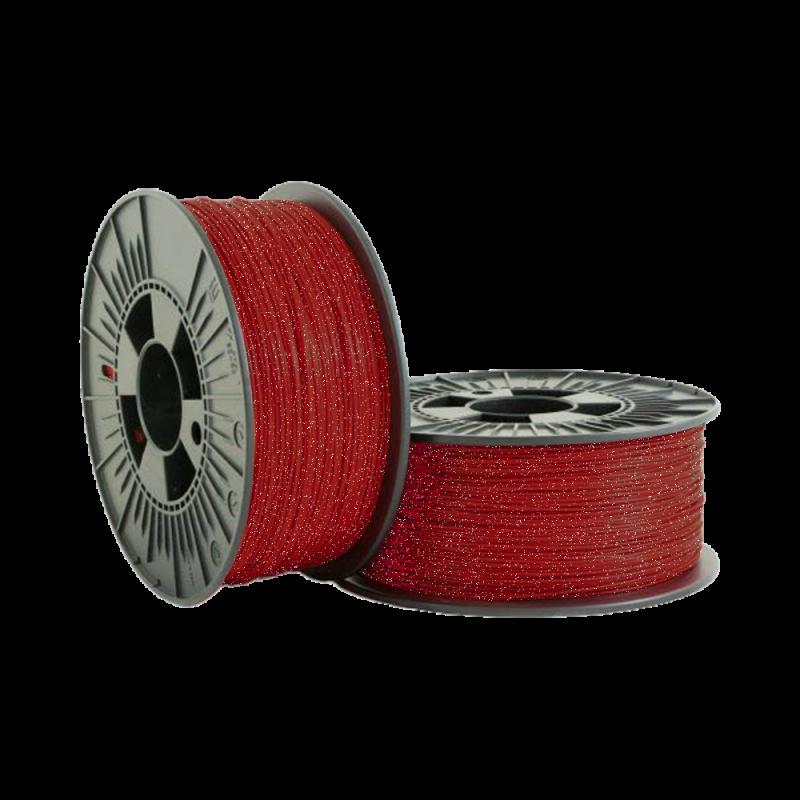 PLA Glitter 1.75mm metallic Red