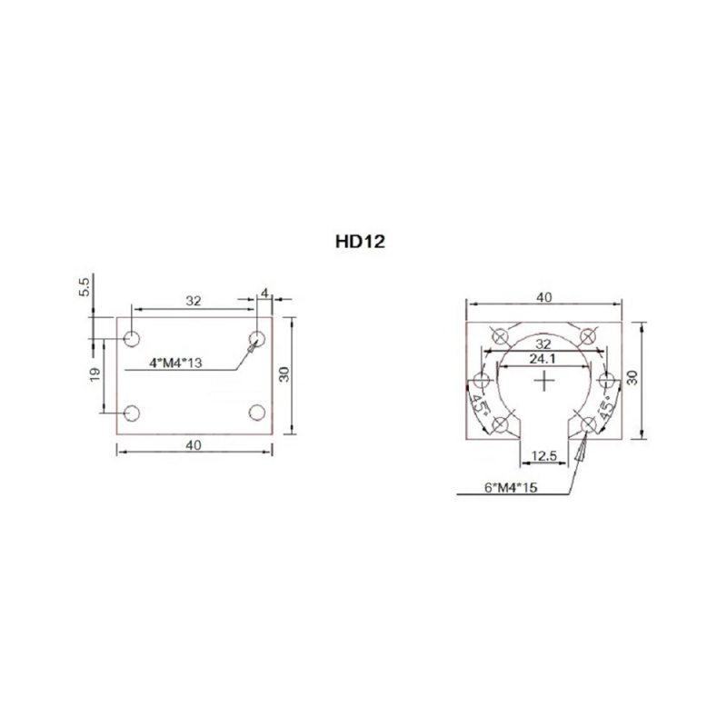 Ball nut housing HD12