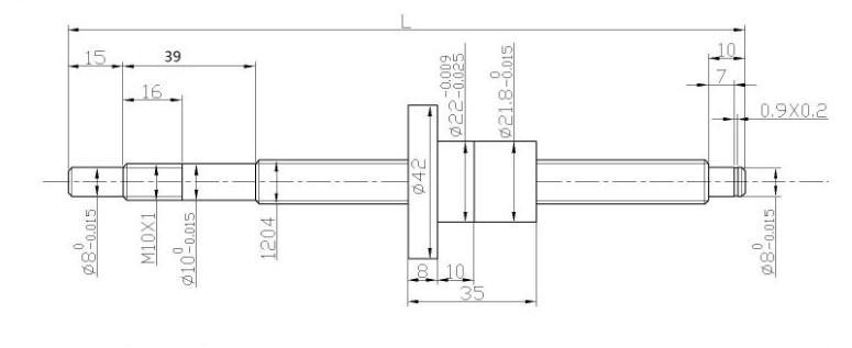 Kit vis à billes 12 mm par 300 mm avec paliers et support d
