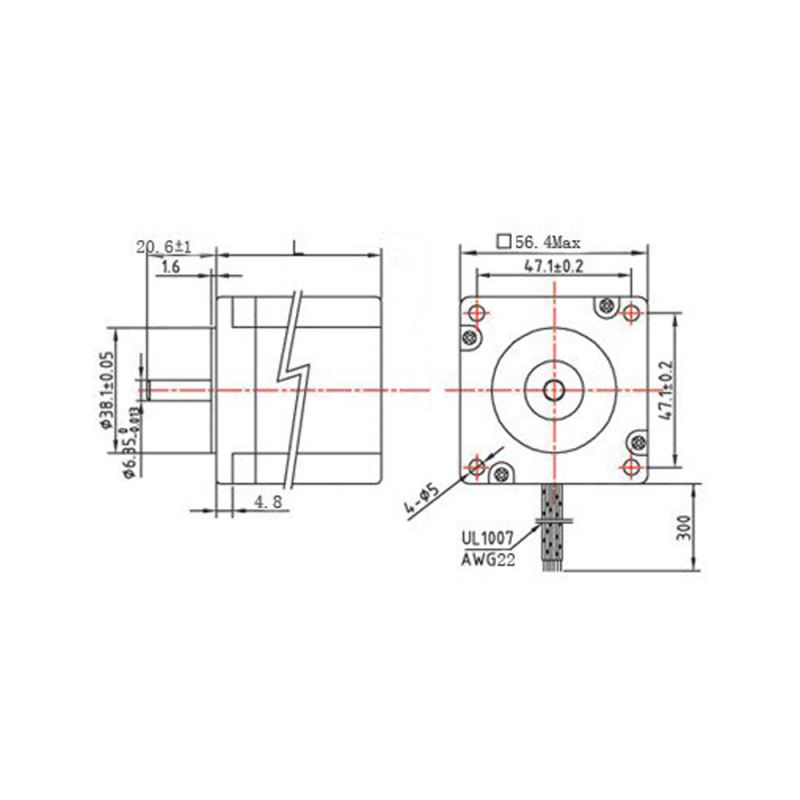 Stepper motor NEMA 23 54.5mm