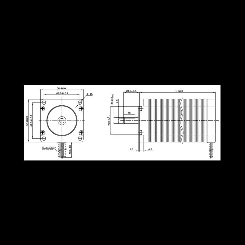 Stepper motor NEMA 23 100mm