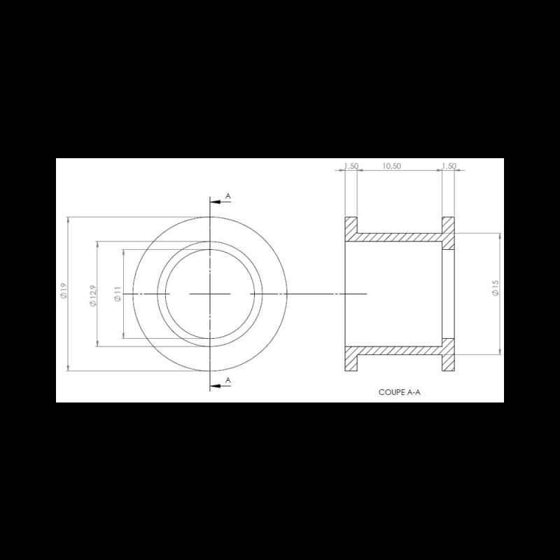 Poulie roue libre 10mm